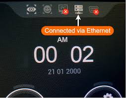 Ef-45 Connected via Ethernet